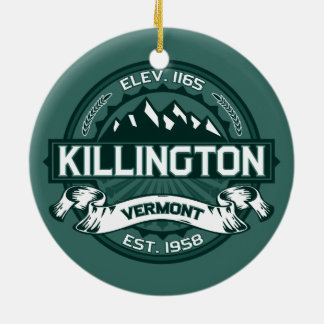"Killington ""Vermont Green"" Round Ceramic Decoration"
