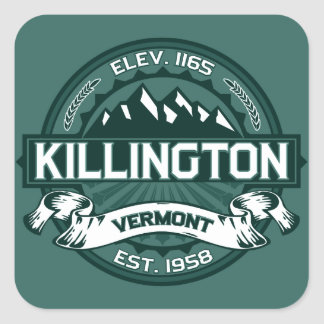 "Killington ""Vermont Green"" Square Sticker"