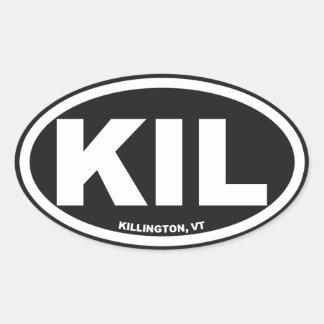 Killington Vermont Oval Oval Sticker
