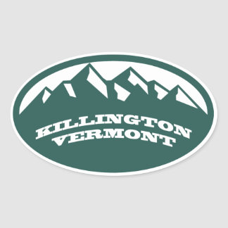 Killington Vermont Oval Sticker