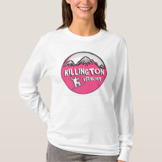 Killington Vermont pink ladies snowboard hoodie