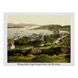 Killybegs Village, Vintage Donegal Ireland Print