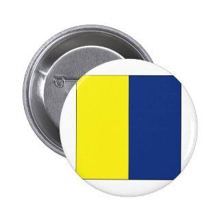 Kilo (K) Signal Flag 6 Cm Round Badge