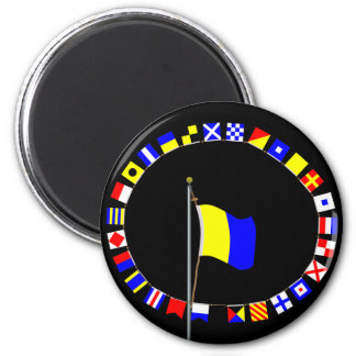 "Kilo Nautical Signal Flag ""I wish to communicate"" Magnet"
