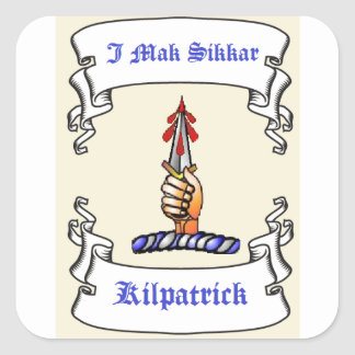 Kilpatrick Dagger I Mak Sikkar Square Stickers