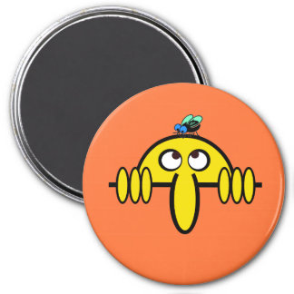 Kilroy Fly on Head 7.5 Cm Round Magnet