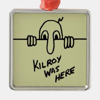 Kilroy Was Here Christmas Ornament