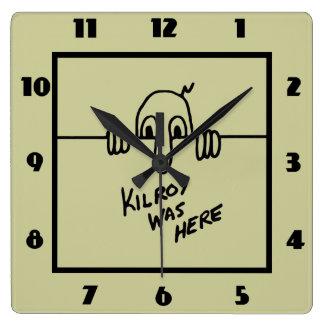 Kilroy Was Here Wallclocks