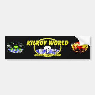 Kilroyworld Logo Bumpersticker Bumper Sticker