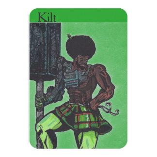 Kilt Collector's Card 9 Cm X 13 Cm Invitation Card