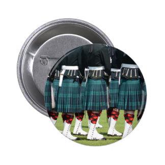 Kilted Men in Edinburgh, Scotland Button