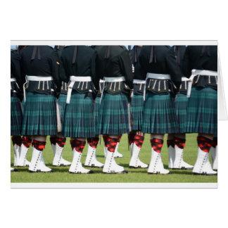 Kilted Men in Edinburgh, Scotland Greeting Card