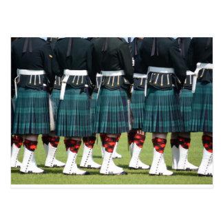 Kilted Men in Edinburgh, Scotland Postcard