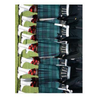 Kilted Men in Edinburgh, Scotland Post Card