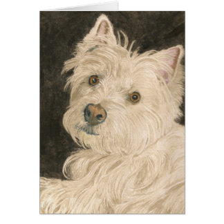 Kiltie the West Highland White Terrier Greeting Card
