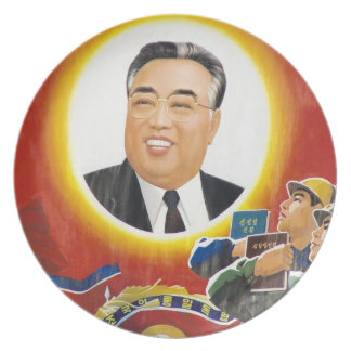 Kim il Sung Party Plates