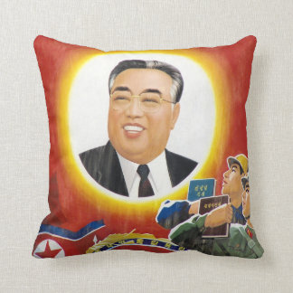 Kim Il-Sung Red Portrait Pillow