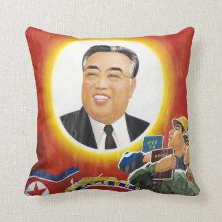 Kim Il-Sung Red Portrait Pillow