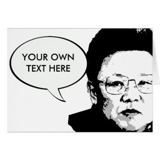 Kim Jong Il Card