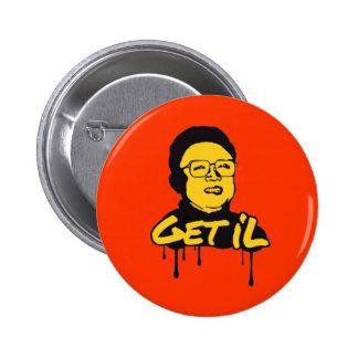 Kim Jong Il - Get's IL 6 Cm Round Badge