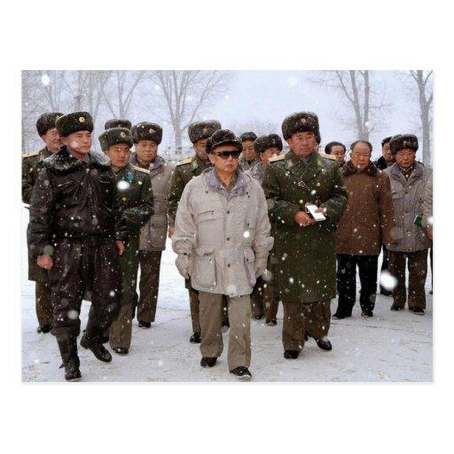 Kim Jong-il, North Korea Postcards