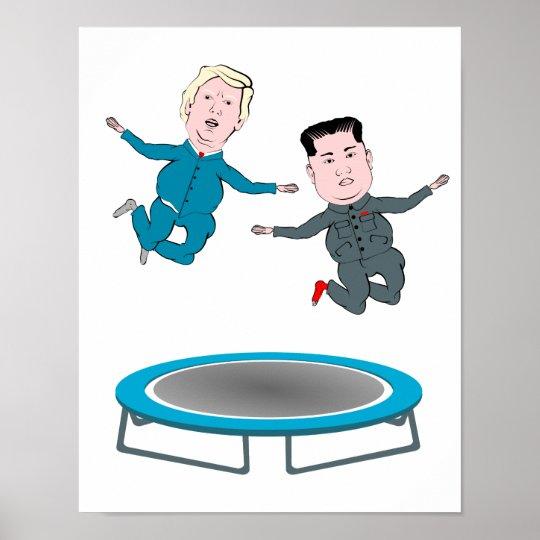Kim Jong Un and President Trump Poster