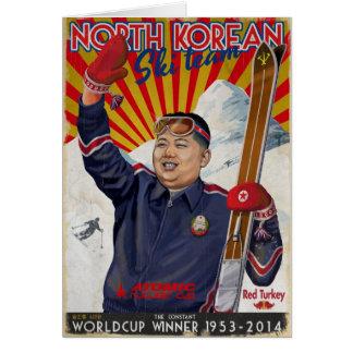 Kim Jong Un Greeting Card