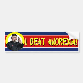 Kim Jong Un - I Beat Anorexia bumper sticker