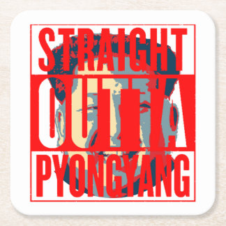 Kim Jong-un North Korea Thug Square Paper Coaster