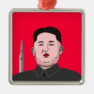 Kim Jong-un & nuclear missile Christmas Ornament