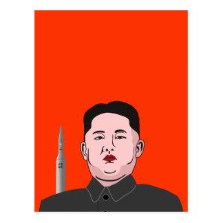 Kim Jong-un & nuclear missile Postcard