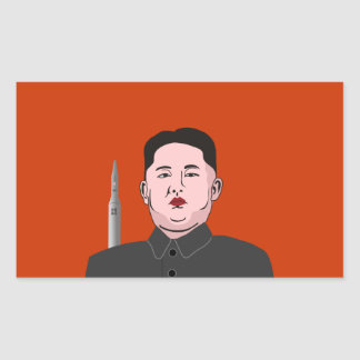 Kim Jong-un & nuclear missile Rectangle Stickers