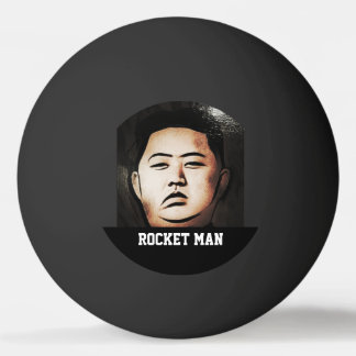 Kim Jong Un Rocket Man Ping Pong Ball