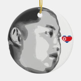 Kim Jong-Un Round Ceramic Decoration