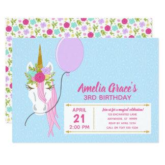 Kimbellished Unicorn Birthday Invitation Layout #1