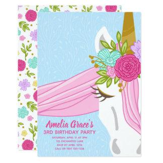 Kimbellished Unicorn Birthday Invitation Layout #2