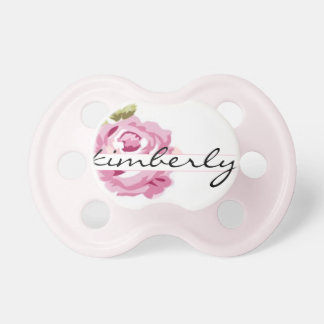 """Kimberly"" Personalized Name - Shabby Chic Pacifiers"