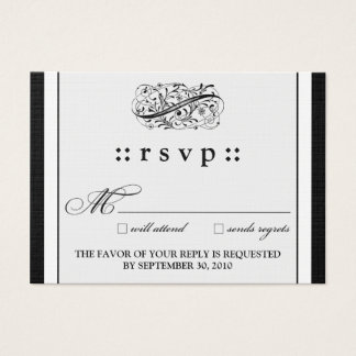 "::kimberly:: Simply Elegant 3.5""x2.5"" RSVP Card"