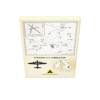 Kimbleton Airfield, England Map, 379th Bomb Group Canvas Print
