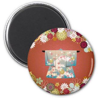 Kimono2 6 Cm Round Magnet