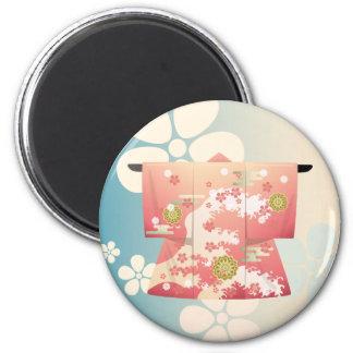 Kimono 6 Cm Round Magnet