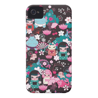 Kimono Cuties Kawaii Blackberry Case by Fluff