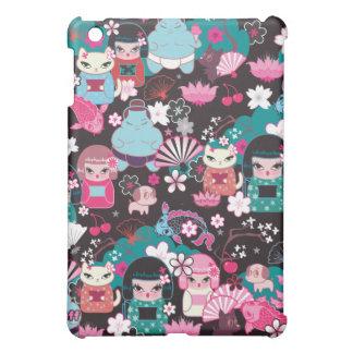 Kimono Cuties Kawaii Ipad Case by Fluff