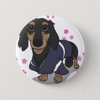 Kimono Dachshund 6 Cm Round Badge