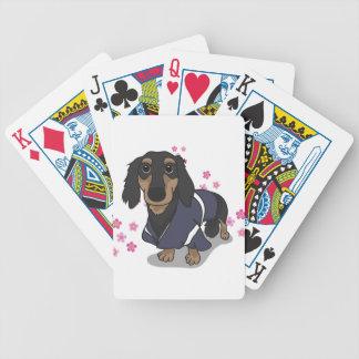 Kimono Dachshund Bicycle Playing Cards