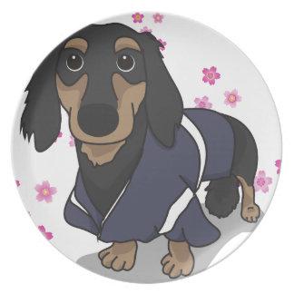 Kimono Dachshund Plate