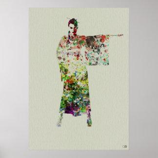 Kimono Dancer Poster