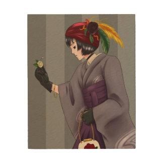 Kimono Princess Artwork Wood Prints