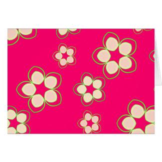 Kimono Rose Pink Lotus Greeting Card