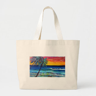 kims sunset large tote bag